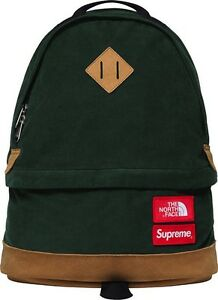 Supreme X The North Face Corduroy Backpack Green Brand New