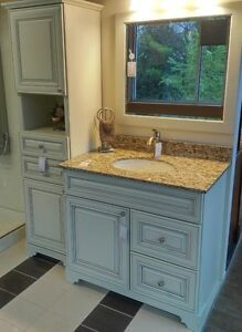 SOLID WOOD - BATHROOM VANITY / CABINET - ON SALE - FLOOR MODEL