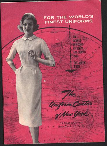 classic nurse uniforms: THE UNIFORM CENTER OF NEW YORK Fall-Winter 1958 catalog