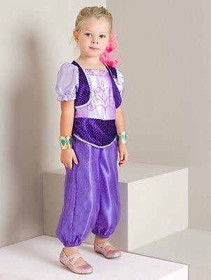 George Schimmernd & Glanz Kinder Genie Kostüm Outfit Büchertag Kostüm - Lila ()