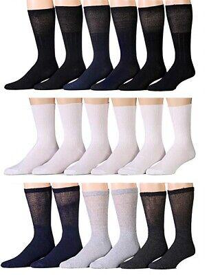 New 3,6,12 Pairs Ladies Women Diabetic Crew Circulatory Socks Health Cotton -