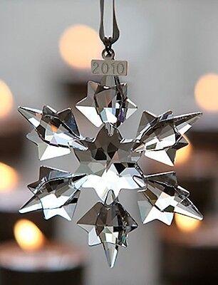 2010 Swarovski~Snowflake STAR Annual Christmas ORNAMENT ~NIB ~Triangle box