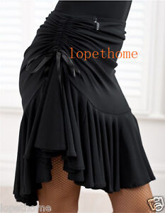 2013 Latin salsa tango rumba Cha cha Ballroom Dance Dress skirt (Black, purple)