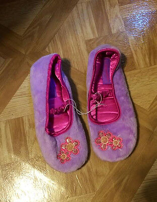 FireSide Young Girls lilac/Hot Pink Slippers Sizes 12, - Hot Young Teen Girls