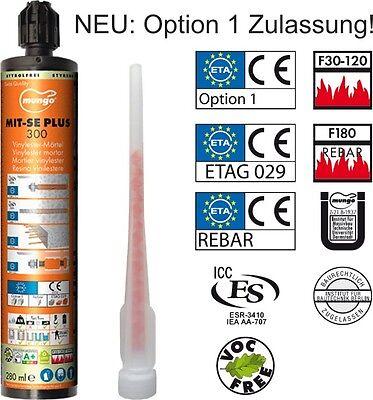 Mungo MIT-SE 300 Plus, Verbundmörtel / Injektionsmörtel, viele Zulassungen!