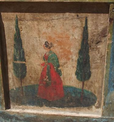 BAUERNTRUHE figürlich BEMALT Spruch AUSSTEUERTRUHE Truhe Bauernmalerei vor 1800