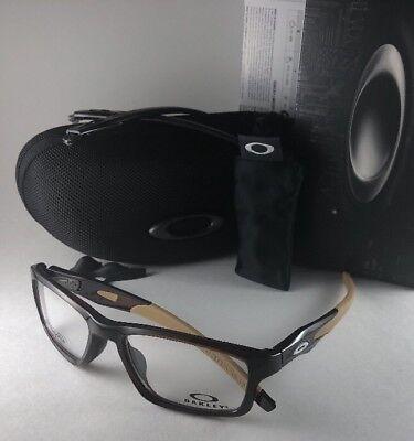 New OAKLEY Eyeglasses CROSSLINX MNP OX8090-0453 Rootbeer Interchangeable Temples