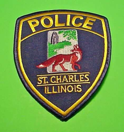 """ST. CHARLES  ILLINOIS  IL   RED FOX )  5""""  POLICE PATCH  FREE SHIPPING!!!"""