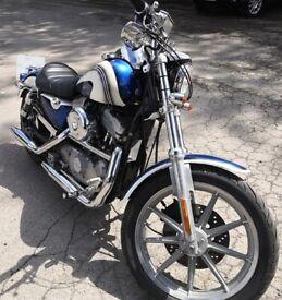 Harley Davidson EVO 5 Sportster Custom 883. 1994. Solid Mount. Carb model. 7000 miles. April MOT