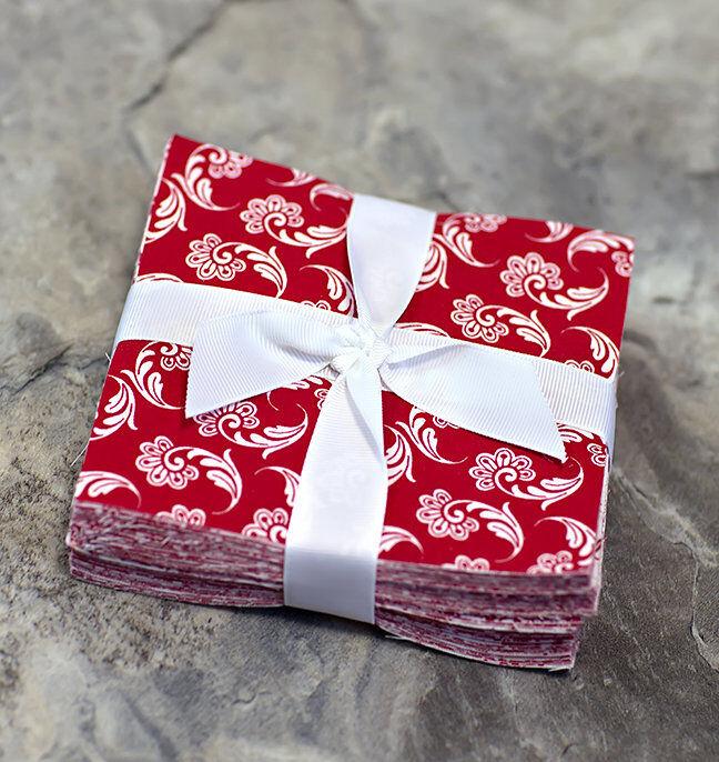 102 Red & White pre cut charm pack 5