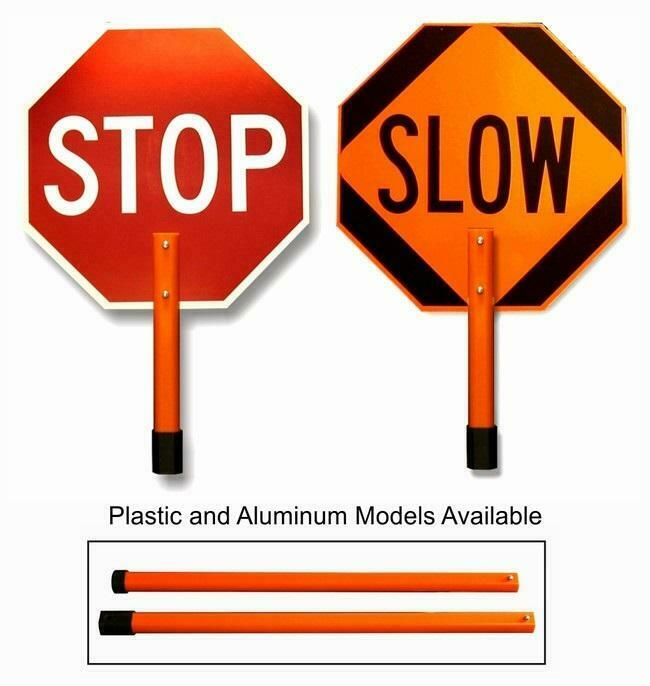"""18"""" Inch Non-Reflective Paddles for STOP/SLOW Signs, Orange, 1 Each"""