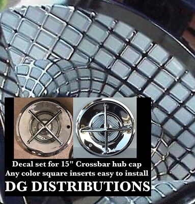 "14"" Cross Bar Hub Cap Decal Set"