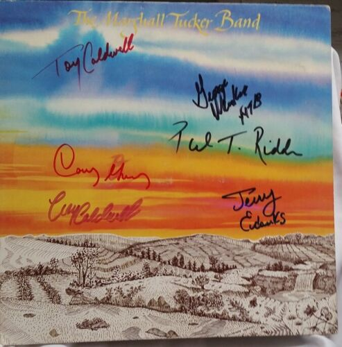 MARSHALL TUCKER BAND - FIRST ALBUM COVER PERSONALLY AUTOGRAPHED BY ALL - MINT-