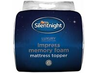 Silentnight Impress 7 cm Memory Foam Mattress Topper-Super King -New