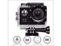 4K Ultra HD Action Camera (unwanted gift), WiFi, Waterproof, + Waterproof Case + 18 Accessories Kits