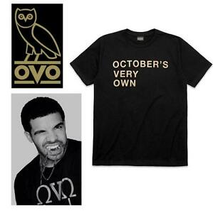 NEW OVO T-SHIRT MEN'S SM - 105875567 - OCTOBER'S VERY OWN - DRAKE - BLACK