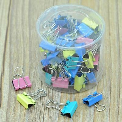 60Pcs 15mm Colorful Clips Metal Paper File Ticket Binder Clips Office Supplies for sale  Shipping to United States