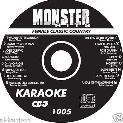 KARAOKE MONSTER HITS CD+G FEMALE CLASSIC COUNTRY  #1005