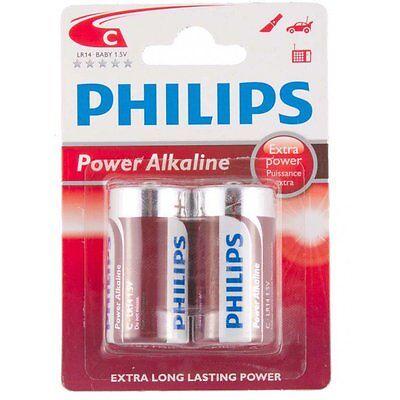Philips Alkalische Batterien AAA Aa C D 9V Arten Nicht Wiederaufladbar Packungen