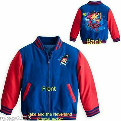 Disney Jake and the Neverland Pirates 4 5-6 7 8  Varsity Jacket childs New](Jake And The Neverland Pirates Jacket)