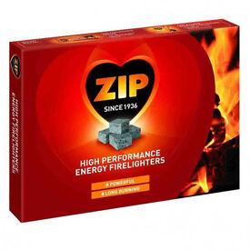 1x Boxe of 24 packs of 12 ZIP Firelighters
