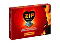 Joblot box of 24 packs of 12 ZIP Firelighters BBQ wholesale clearance stock