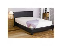 "'' CLEARANCE STOCK'' -- KING Leather Bed Frame With Mattress -- ""Order Now"""