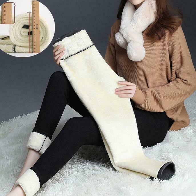 Super Thick Cashmere Wool Leggings Thickened Fleece Lined Thermal Leggings Warm Winter Thick Jogger Pants
