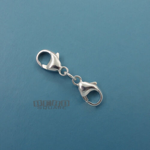 925 Sterling Silver Double Lobster Claw Clasp Connector / Extender [Choose Size]