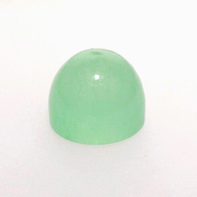 LIGHT GREEN JADE 8 MM BULLET CUT CABOCHON ALL NATURAL F-3342
