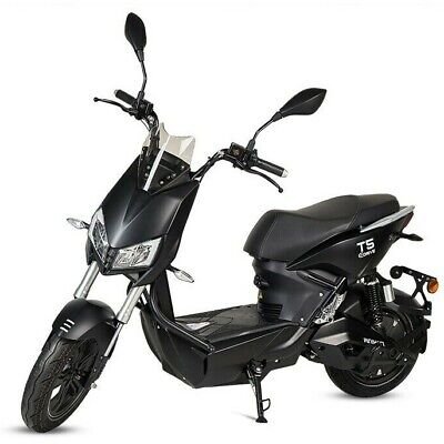 Moto scooter electrica matriculable 1500w bateria extraible T5 en color negro