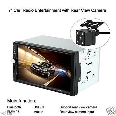 HD Touch Scree Car Stereo MP5 Player MP3 Radio BT USB AUX Parking Camera