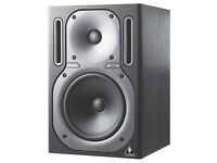 Behringer B2030A Truth Active Studio Monitors with Stands and Cables.