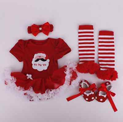 """20-22/"""" Reborn Baby Girl Clothing Newborn Christmas Clothes Set Dress Doll Gifts"""