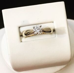 14K Gold .56ctw. Diamond Engagement Ring / Certified at $4,500