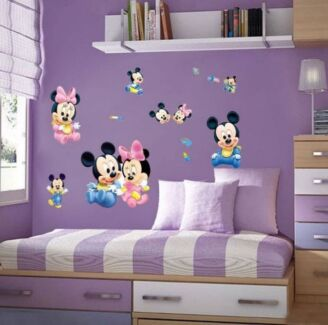 Minnie and Mickey Mouse Decal