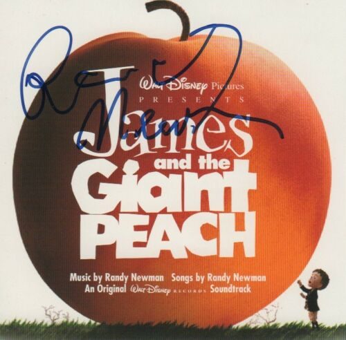 """Randy Newman Composer Autogramm signed CD Booklet  """"James and the Giant Peach"""""""