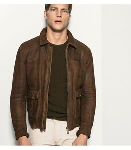 Massimo Dutti Leather Bomber Jacket AS NEW Bronte Eastern Suburbs Preview