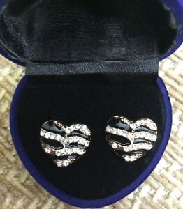 Heart shaped gold plated earrings