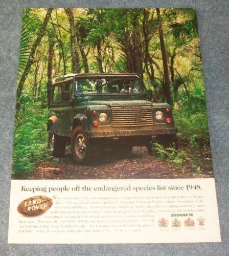 "1997 Land Rover Defender 90 Station Wagon Vintage Ad ""Keeping People Off...."""