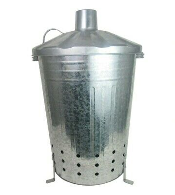 Garden Incinerator Bin 90 Liters - Burner for Leaves Wood Rubbish Fire Pit