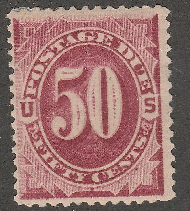 USA Scott J 28 Postage Due 50 Cent Bright Claret MH J28-2  - $79.95