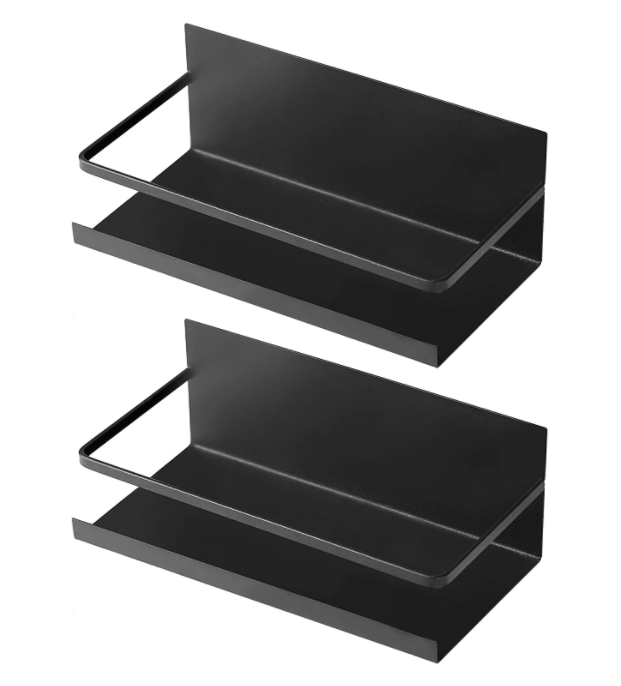 2 Pack Magnetic Shelf for Refrigerator, Magnetic Spice Rack