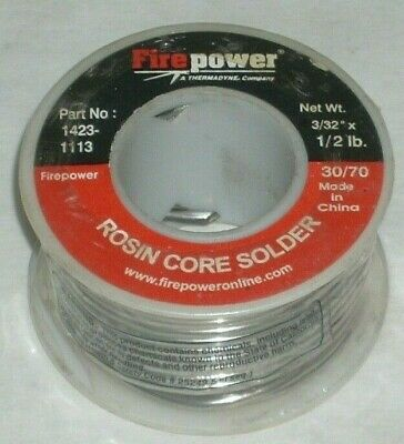 Victor Firepower 1423-1113 Rosin Core Solder 3070 332 Diameter 12 Lb Roll