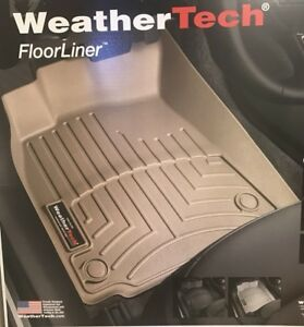WeatherTech Car Floor Mat FloorLiner for VW Jetta Sedan/Beetle - 1st Row - Tan