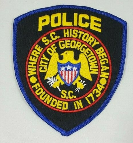 GEORGETOWN SOUTH CAROLINA SC POLICE SHOULDER PATCH *WHERE S.C. HISTORY BEGAN*