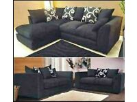 Chenille Grey Fabric Corner Sofa Cheap Pattern Cushion