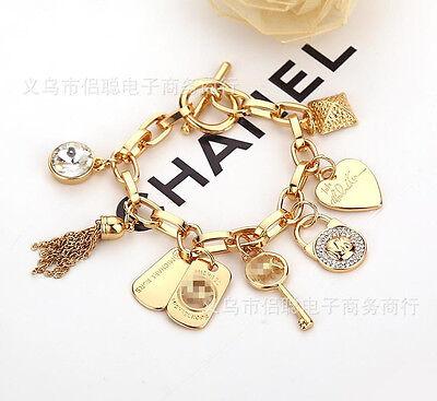 Bracelet - Fashion Women Lady Gold Silver Plated Bangle Cuff Bracelet M @ K Wedding Gift
