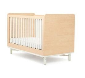 Cot Bed Baby K Maple