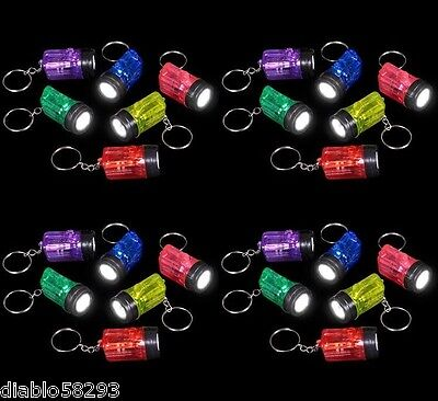 216 BRIGHT MINIATURE FLASHLIGHT KEYCHAINS MINI KEYCHAIN